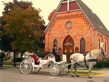 Outside photo of All Saints Chapel in Howell, Michigan.