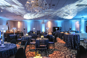Beautiful banquet room photo at Crystal Gardens Banquet Center in Howell, Michigan
